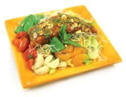 salmon salad cilantro